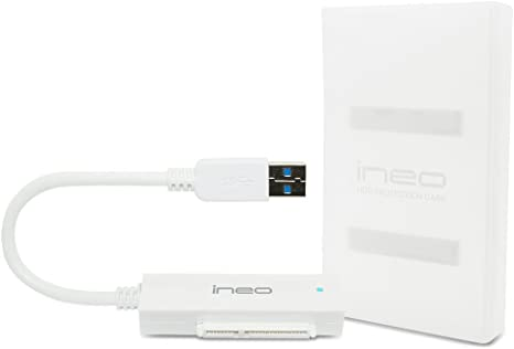 """USB 3.0 to SATA III Cable and Protection Case for 2.5/"""" SSD//HDD Ineo I-NA216U2"""