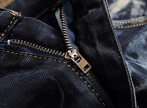 Denim A Giovane Jeans Uomo Bassa In Senza Pantaloni Blueblack Strappati Alta Cinturino Da Vita Casual q4RdXwX