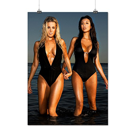 Sexy Teen Girls Swimsuit Models Matte/Glossy Poster A1 (24x33 inches) | Wellcoda
