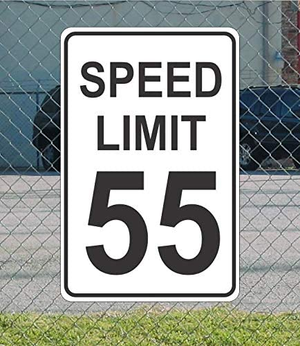 """Speed Limit 55 Metal Sign for Street Road Highway Parking Lot 12/""""x18/"""" mph"""