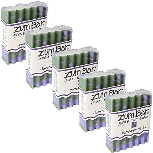 Indigo Wild: Zum Bar Goat's Milk Soap, Lavender & Mint 3 oz (5 pack)
