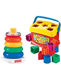 Fisher-Price Rock-a-Stack and Baby's 1st Blocks Bundle BOBEBE Online Baby Store From New York to Miami and Los Angeles