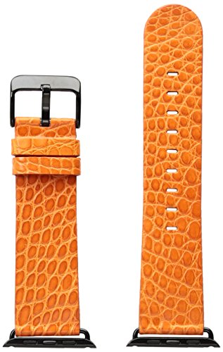 Strap Alligator Orange (Hadley Roma AP1000RAG42A 42mm Apple Strap Alligator Mte Leather Alligator Orange Watch Strap)