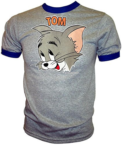(Vintage 1973 MGM Tom and Jerry Orig Licensed Tom Cat Classic Cartoon Ringer T-Shirt)