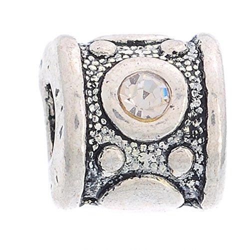 Godagoda Mixte Couleur Argent Vieilli Motif Grave Perles Intercalaires pour Bracelet Lot de 10pcs
