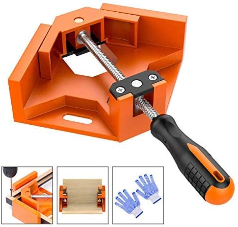 Frylr 90° Right Angle Clamps/Adjustable Corner Clamp Holder Tools with Adjustable Swing Jaw for Carpenter, Welding, Wood-working, Engineering, Photo Framing [並行輸入品]