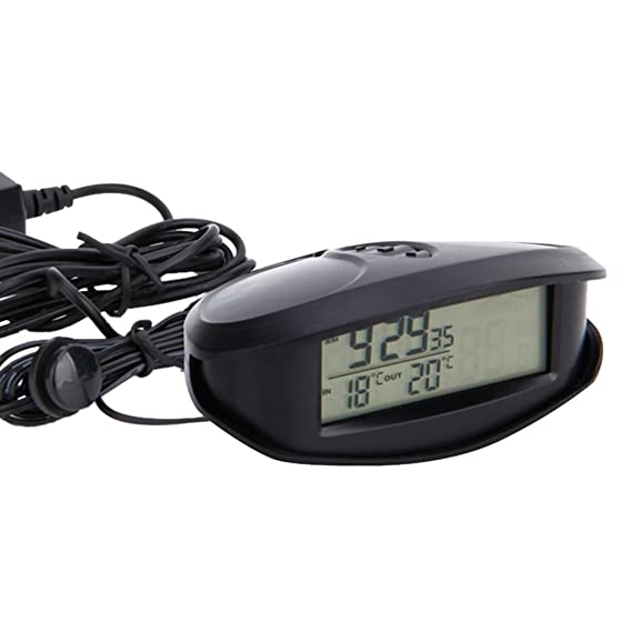 Sharplace 12-24V LED Reloj Digital Multifuncional, Termómetro Voltímetro Digital de Coche: Amazon.es: Coche y moto