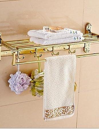 Vergoldet Badezimmer Wandregal Antik Messing Material Regal Bad