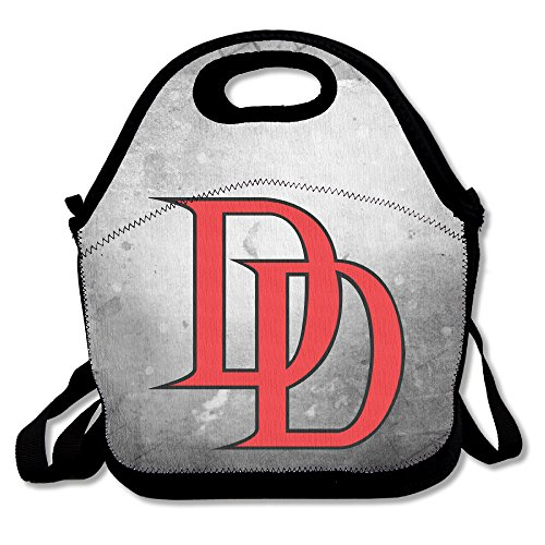 Elektra Costume For Kids (Bakeiy Daredevil Logo Lunch Tote Bag Lunch Box Neoprene Tote For Kids And Adults For Travel And Picnic School)