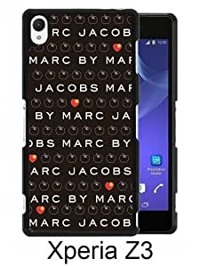 Marc by Marc Jacobs 12 Black Abstract Custom Design Sony Xperia Z3 Protective Phone Case