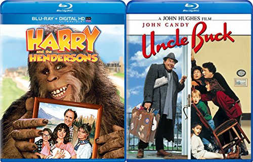 Harry & The Hendersons & Uncle Buck Blu Ray 80's Comedy Set double feature bundle (Flintstones Black And White)