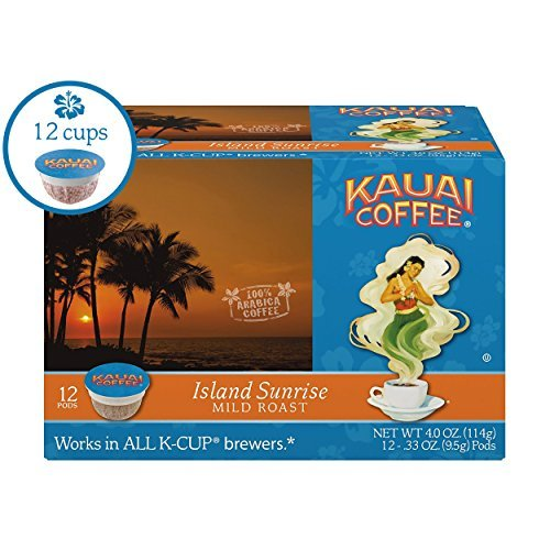 Kauai Coffee Single-serve Pods, Island Sunrise Mild Roast – 100% Premium Arabica Coffee from Hawaii's Largest Coffee Grower, Keurig-Compatible Cups – 12 Count Review