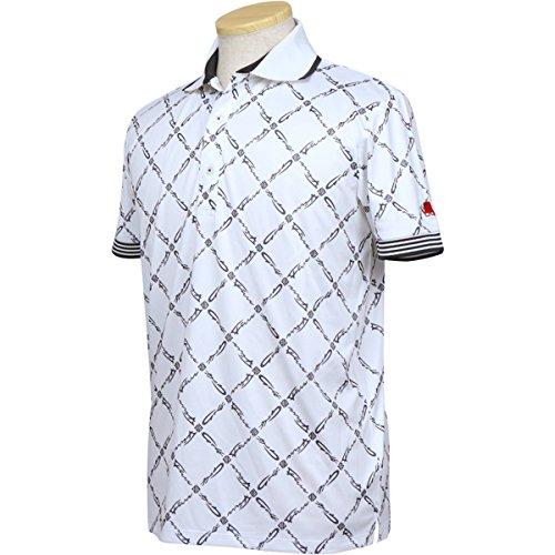 ポロシャツ メンズ フィッチェゴルフ バイ ドン コニシ FICCE GOLF BY DON KONISHI 2018 春夏 ゴルフウェア M(M) ホワイト(02) 281107