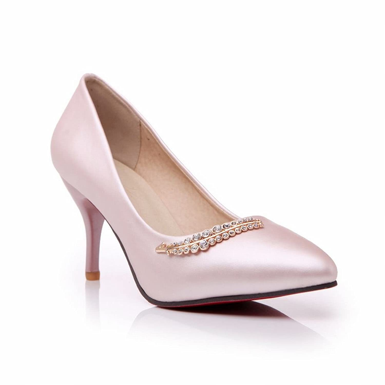 Show Shine Women's Fashion Rhinestones High Heel Pointed Toe Pumps Shoes