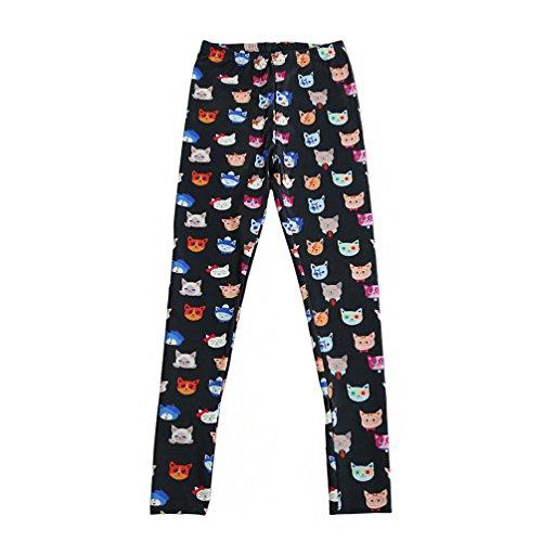 [JOYHY Women's Plus Size Stretchy Digital 3D Printed Leggings Pants Cats L297] (Cat Halloween Costumes For Teenage)