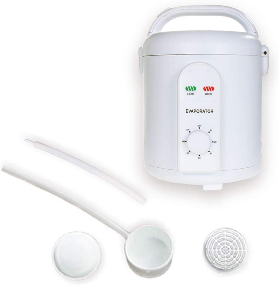 Smartmak Portable Sauna Steamer, 1.8 Liters Steam Pot with Hoses and Herbal Box, Home SPA Machine for Detox Weight Loss 110V US Plug