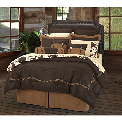 HiEnd Accents Barbwire Western Bedding, King by HiEnd Accents
