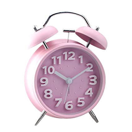 "Jinberry 4"" Retro Reloj Despertador Silenciosos de Doble Campana / Mate Vintage Mesa Alarma de"