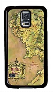 Middle Earth Map Custom Samsung Galaxy S5 Case Cover - Polycarbonate - Black