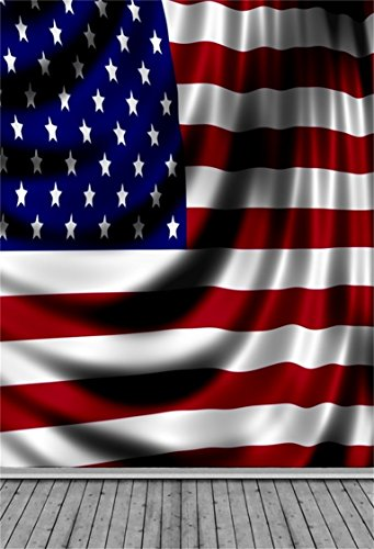 AOFOTO 3x5ft American Flag Photography Background USA Stars
