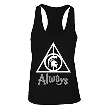 1fcfa7cca704f FanPrint Official Sports Apparel Women s Tank Top Michigan State Spartans  Deathly Hallows