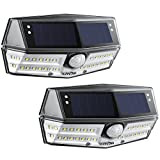 Litom Solar Lights Outdoor, 4th Generation 30 LED Motion Sensor IP67 Waterproof and Wide Angle, Super Bright Security Wall Front Door, Backyard, Garage, Porch(2 Pack)