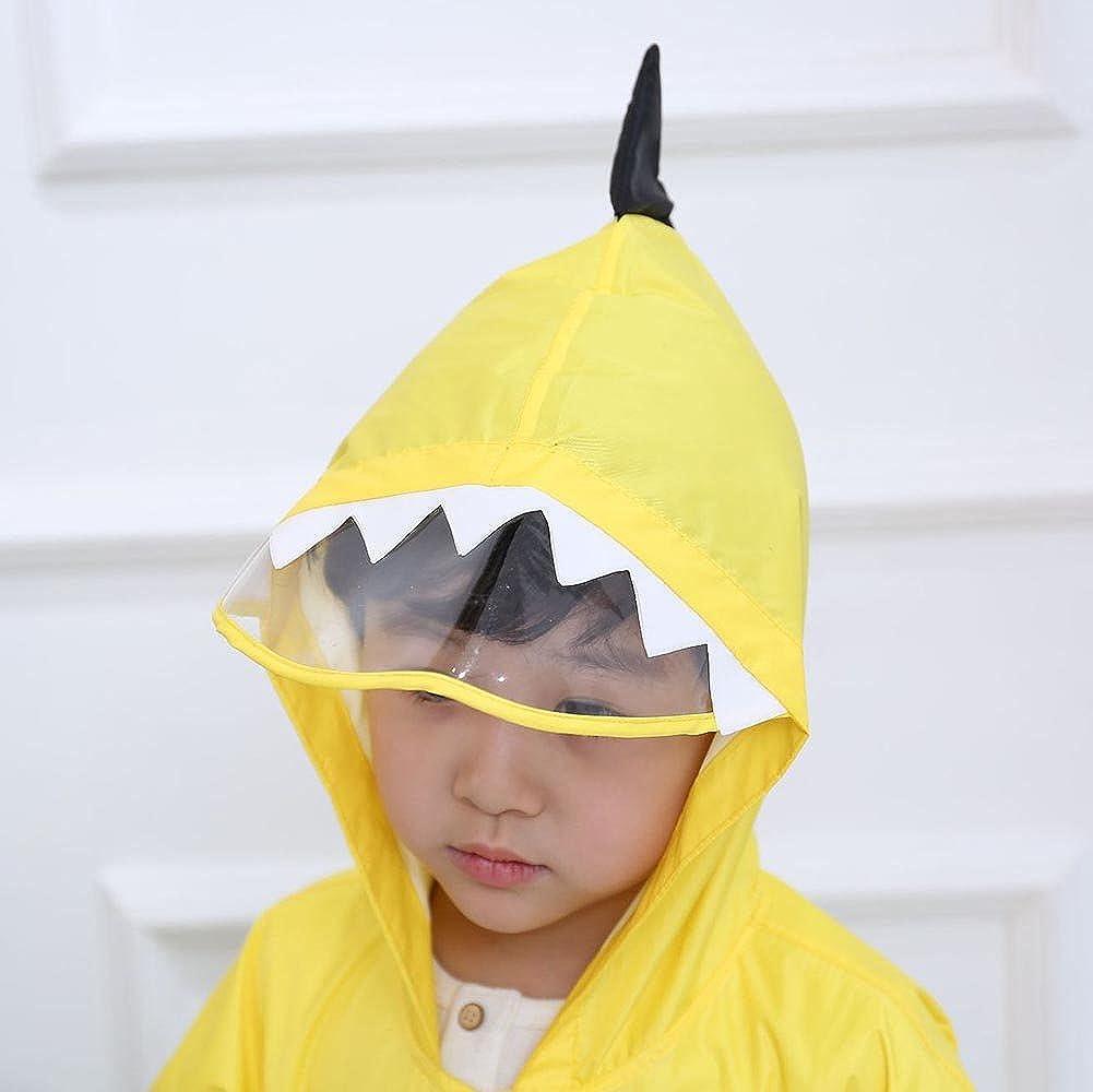 Kids Raincoat Baby Rain Jacket Impermeabile con Cappuccio Divertente Leggero Esterno Dinosauro Poncho Pioggia di Dinosauro per Ragazzi o Ragazze 80-130cm