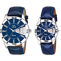 Vills Laurrens Pack of 2 Day and Date Analogue Couple Watch