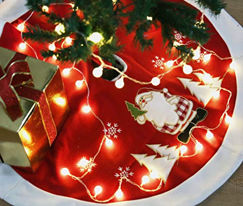 - Love Maison Red Christmas Tree Skirt Christmas Decorations for Party Christmas Tree Skirt 35 Inch