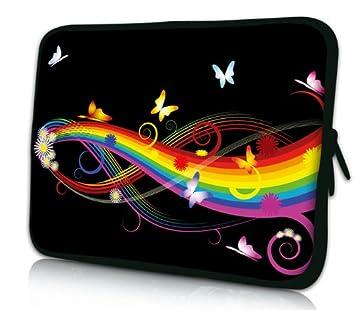 Luxburg Design Funda Blanda para Ordenador portátil (15,6 Pulgadas, Motivo: Mariposas y Arco Iris: Amazon.es: Electrónica
