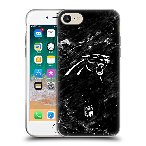 Official NFL Marble 2017/18 Carolina Panthers Soft Gel Case for iPhone 7 / iPhone 8