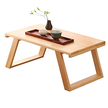 7a0e069ecb58 Amazon.com: Tables Small Coffee Japanese Style Solid Wood Balcony Modern  Minimalist Mini Platform Tea Tatami Low (Color : Brown, Size : 503024cm):  Kitchen & ...
