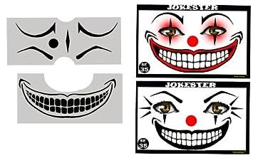 Amazoncom Face Painting Stencil Stencileyes Jokester Clown Beauty