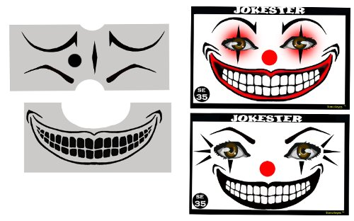Face Painting Stencil - StencilEyes Jokester - Clown (Clown Faces Scary)