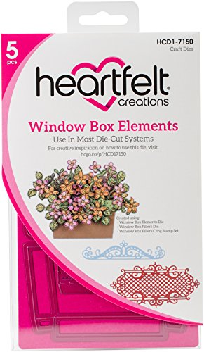 Heartfelt Creations HCD1-7150 Cut and Emboss Dies Window Box Elements by Heartfelt Creations