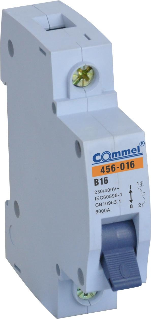 disyuntor, MCB 6A 1 -Polig B /Interruptor diferencial 10/16/20/25/32/40/B Fusible autom/ático /
