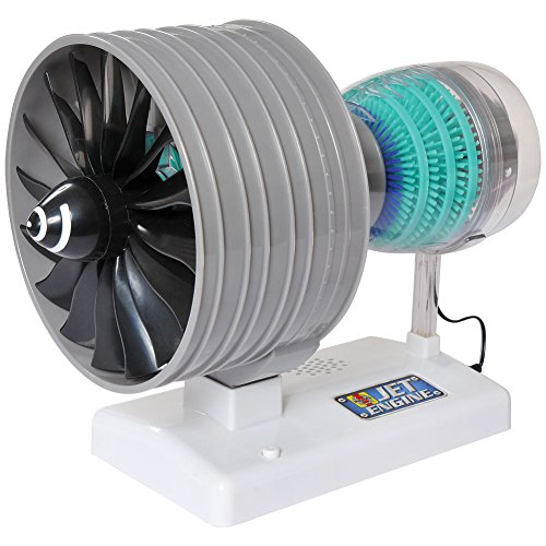 Airplane Motorized (2 Spool Turbofan Jet Engine Model - Fully Functional w/ Diagram Instructions)