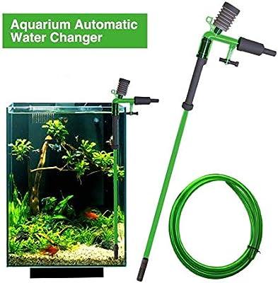 JLCN Limpiador Grava Acuario, Cambiador de Agua for Tanque de Peces Aspirador de Tanque de Peces eléctrico Aspirador con batería Sifón con Filtro de Agua de Grava Limpiador de Arena: Amazon.es: Hogar