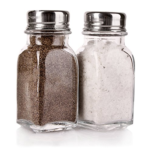 (Salt and Pepper Glass Shakers Set Spice Jar)