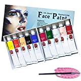 Magicdo Oil-Based Face Painting Kit with Brush and Palette, Washable Non-toxic Moisturizing Body