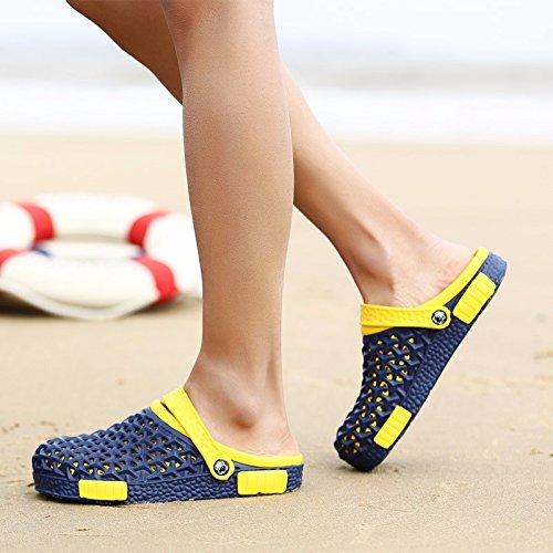 Loch Schuh Männer Sommer Das neue Männer Sandalen Trend Rutschfest Persönlichkeit Sommer Atmungsaktiv Sandalen Strand Schuh ,blau,US=9,UK=8.5,EU=42 2/3,CN=44