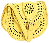 Cleobella  Cantina Cross Body,Yellow Painted,One Size