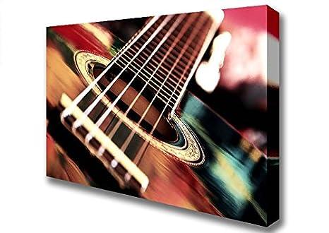 Stampe Cucina Moderna : Moderno chitarra acustica stampe su tela small inches