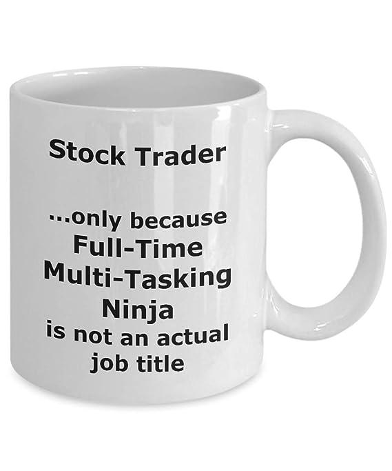 Amazon.com: Ninja Stock Trader Funny Gift Mug: Kitchen & Dining