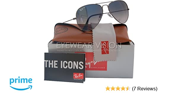 61cff30bbe Amazon.com  Ray-Ban RB3025 Aviator Polarized Sunglasses Gunmetal w Blue Grey  Gradient (004 78) RB 3025 58mm  Shoes