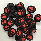 PTPTRADE 10x Silicone Rubber Gel Analog Controller Thumbstick Cap Cover for PS2/3/4/XBOX360/One (Red)