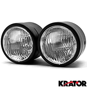 amazon com krator® black twin headlight motorcycle double dual krator® black twin headlight motorcycle double dual lamp street fighter naked dominator