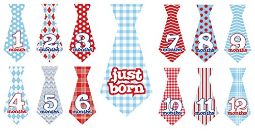 12pcs Good-looking Ties with Just Born Dots Stripe
