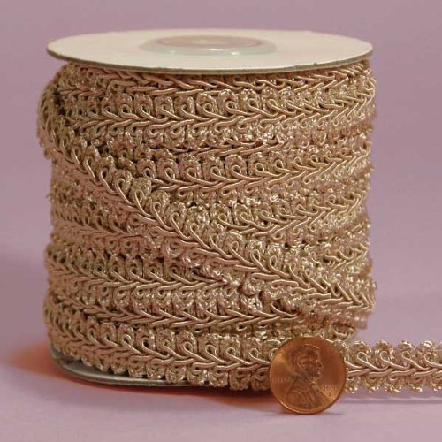 Toffee Gimp Braid Trim, 3/8X 10Yd 3/8X 10Yd Paper Mart 4337028039