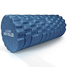 The Original Body Roller – High Density Foam Roller Massager for Deep Tissue Massage of The Back and Leg Muscles – Self Myofascial Release of Painful Trigger Point Muscle Adhesions